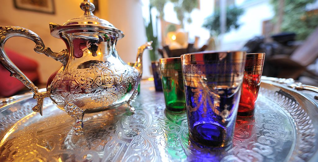 You will be treated to a traditional Moroccan tea
