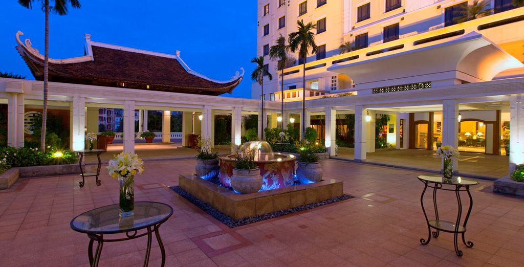 Then after  your time in Laos enjoy a stay at the Sheraton Hanoi