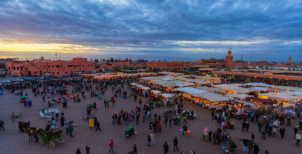 Then explore the Djemaa El-Fna Square