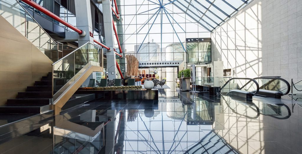 This striking hotel makes a big impression
