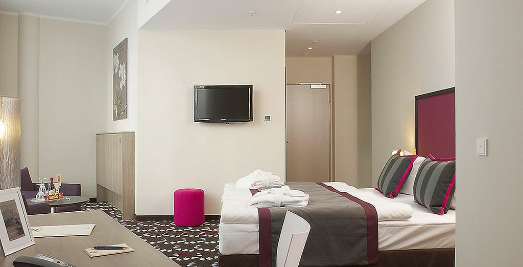 Stay in a spacious Business Room