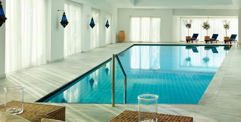 Escape the heat of the day in the Thalasso Spa