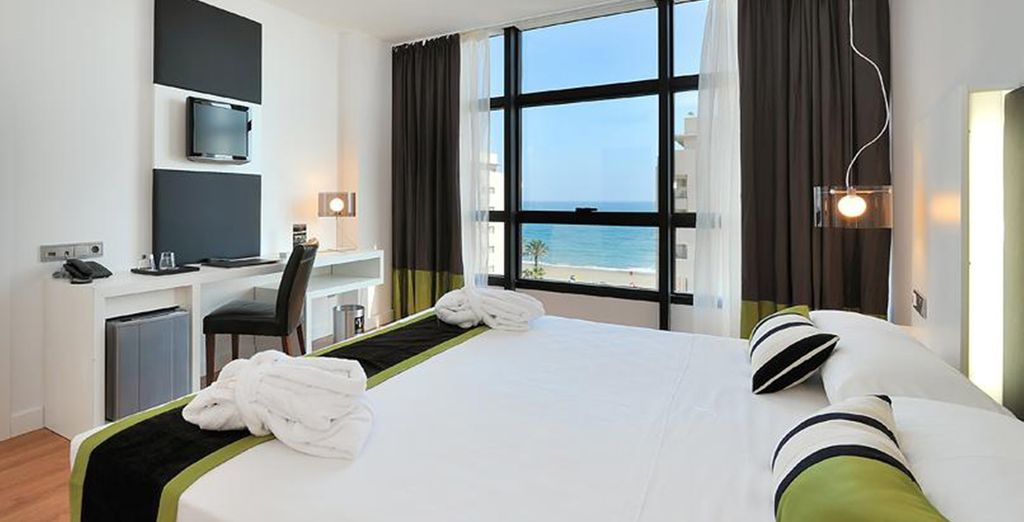 Enjoy Sea Views from your spacious & comfortable room..