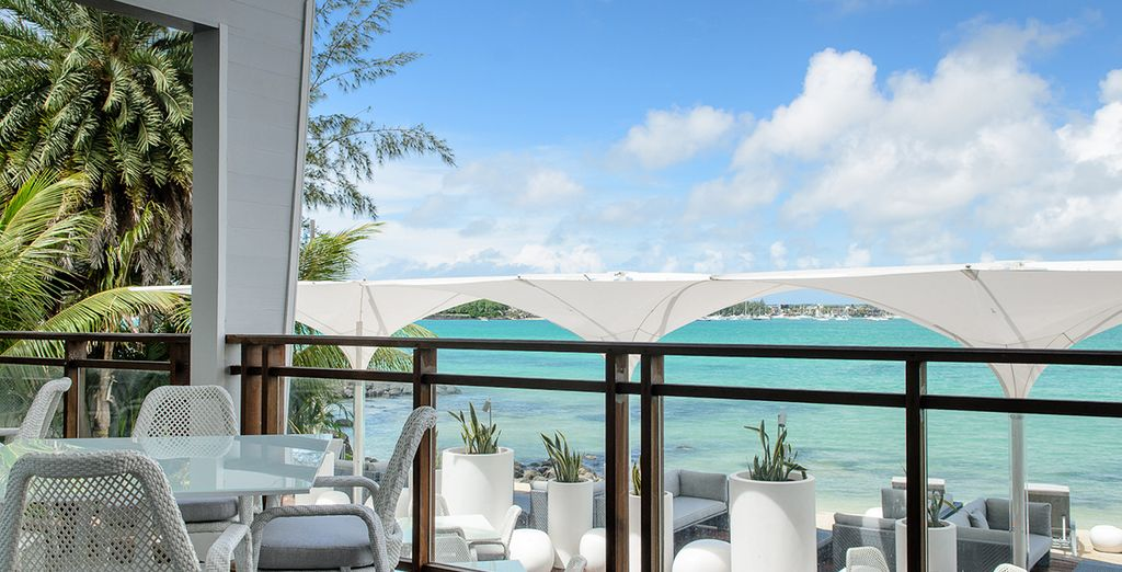 Dine al fresco as you take in the stunning views