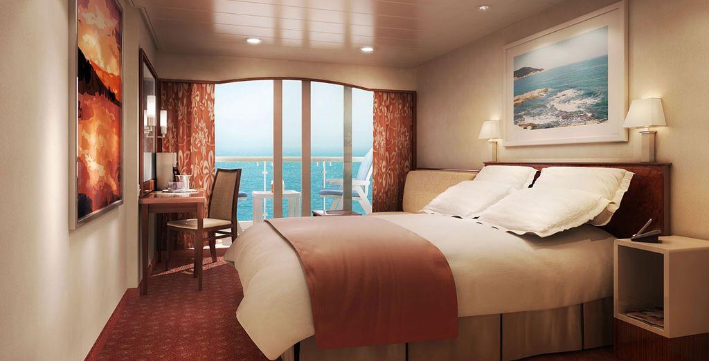 The ship boasts fantastic, spacious staterooms