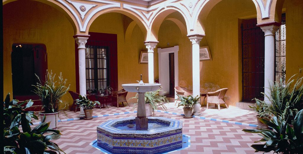 A collection of 27 traditional houses, arranged around pretty courtyards