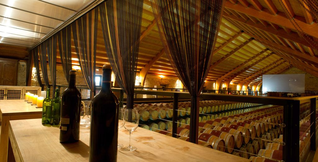 While here you'll enjoy a superb wine tasting session