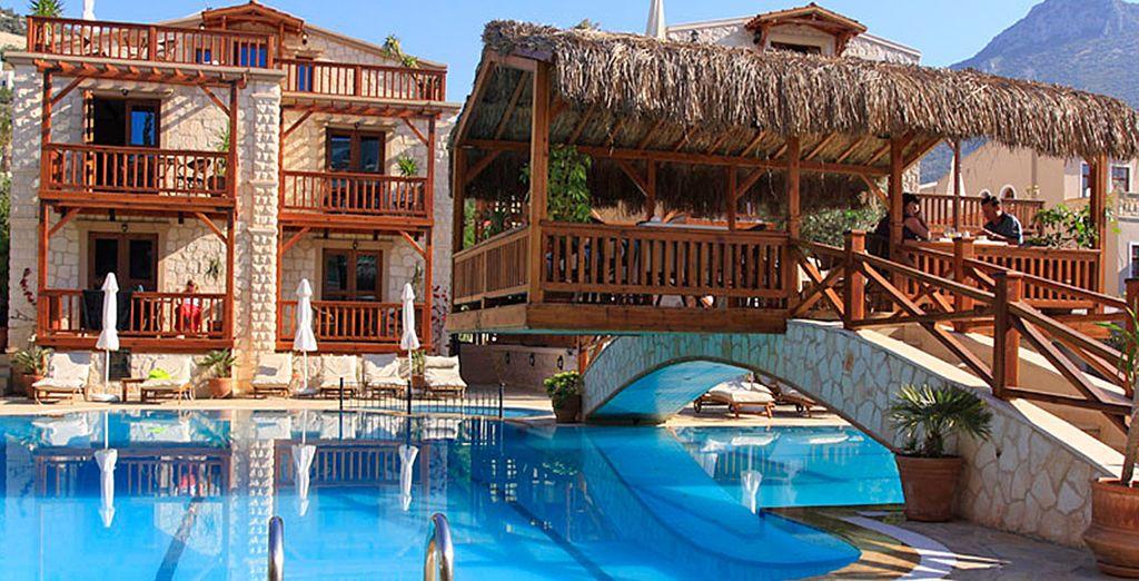 A wonderful pool area