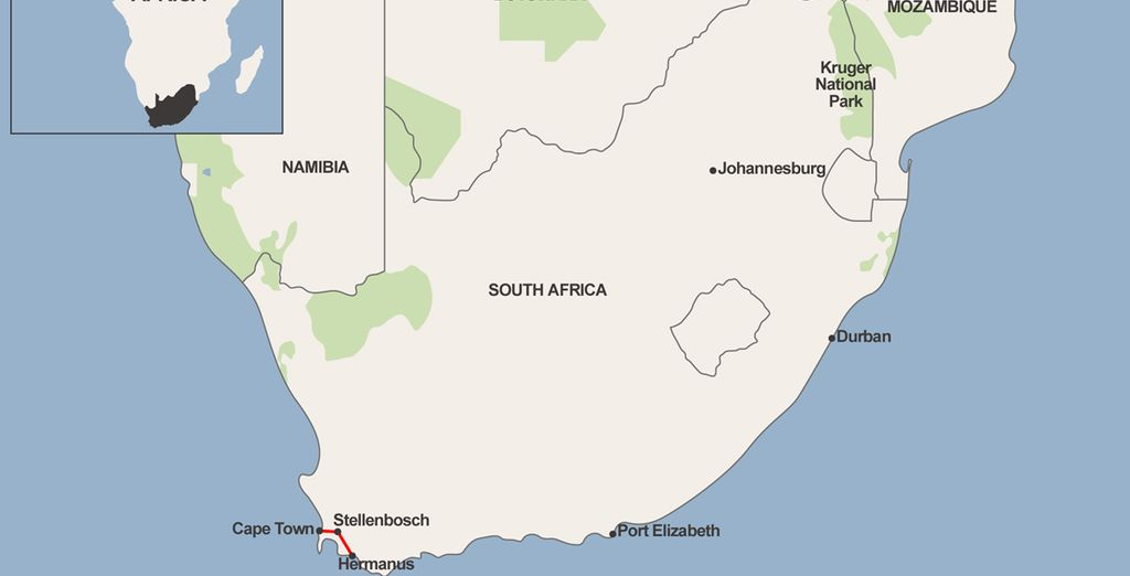 All along South Africa's southwestern coast