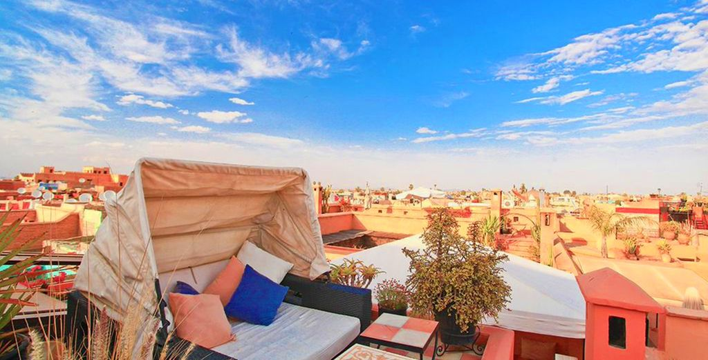 Take in the sublime rooftop views of Marrakech