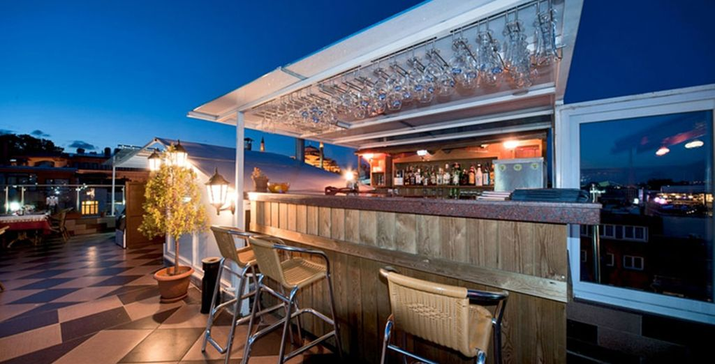 Then head up to the roof restaurant for a discount on dining too