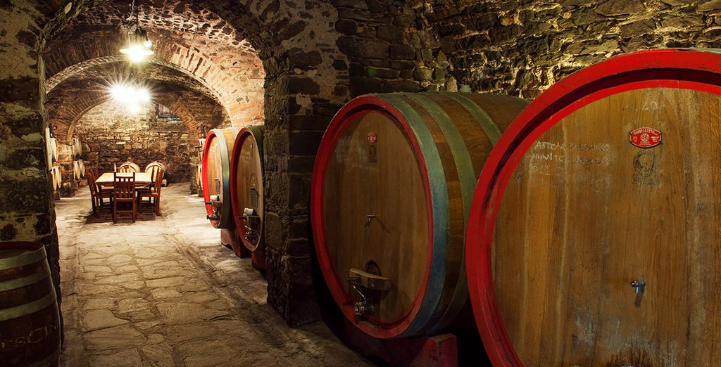And with a stay of 3 or 5 nights we have included a tour of the extensive wine cellars too