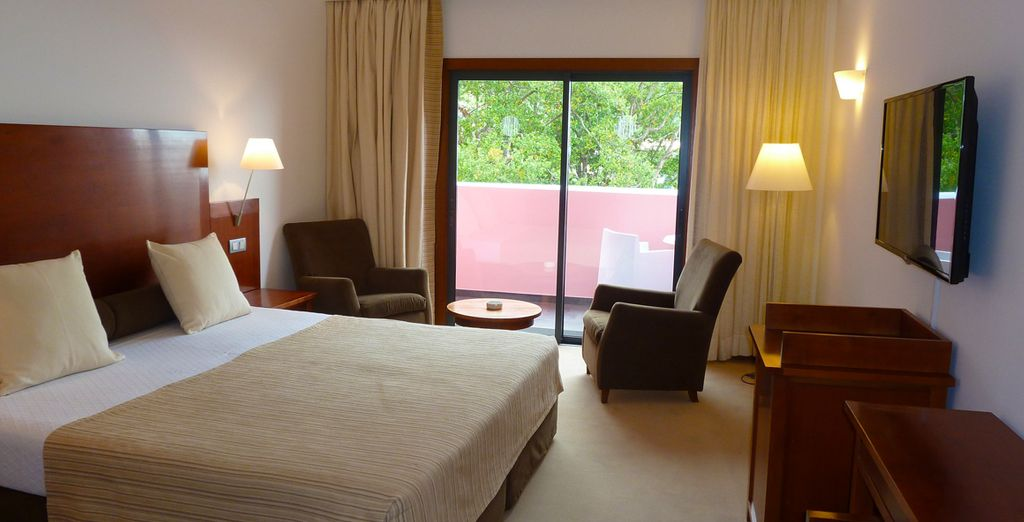 Stay in a welcoming and comfortable room