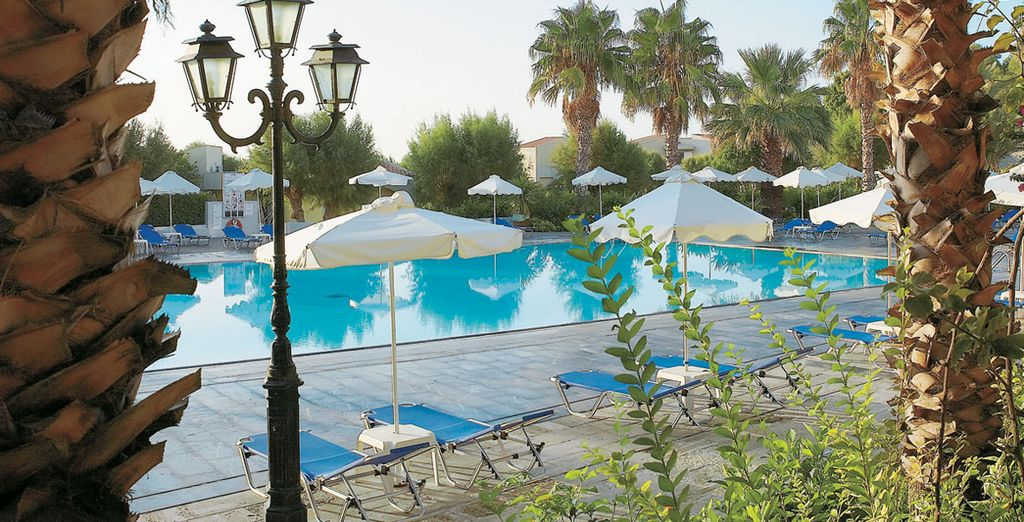 The hotel has a 1,000m² pool complex