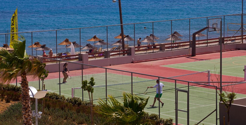 Work up an appetite on the tennis court