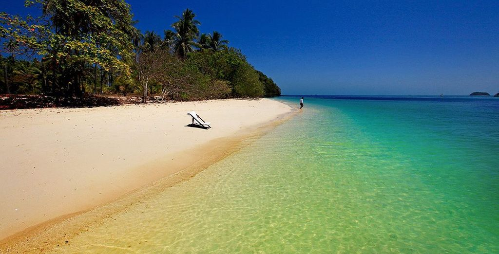 Or go for a stroll along the secluded and tranquil beach