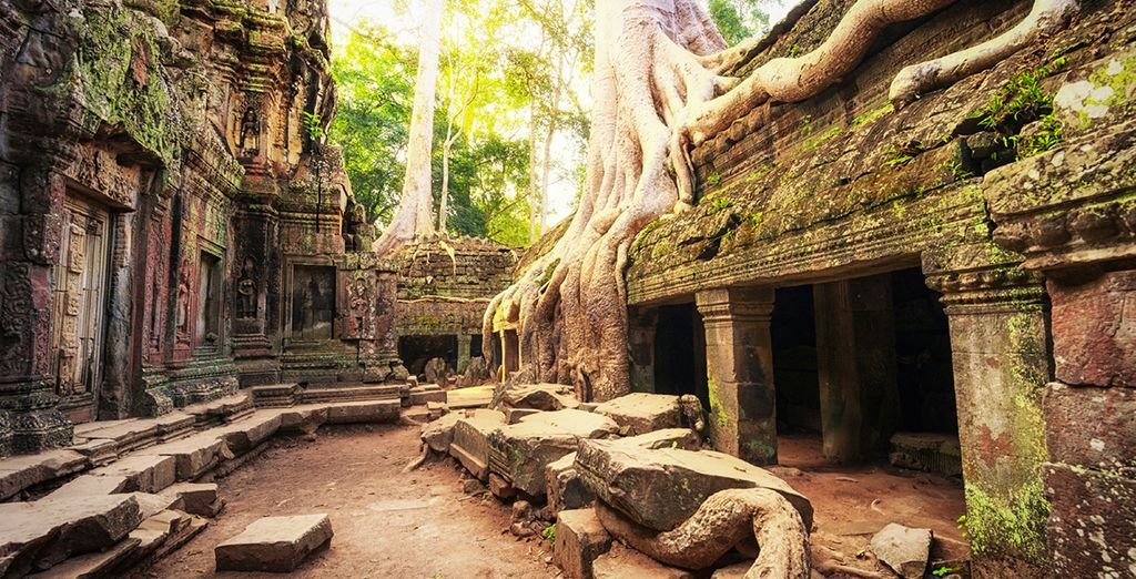 To the ancient temples of Angkor Wat
