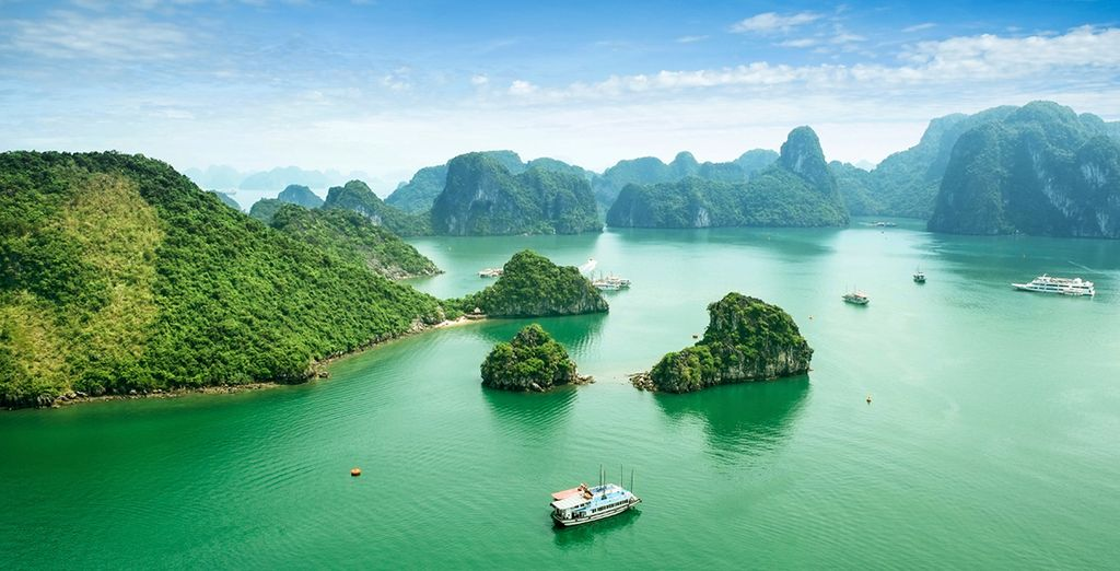 Then see the magnificent Halong Bay - A World Heritage Area of outstanding natural beauty