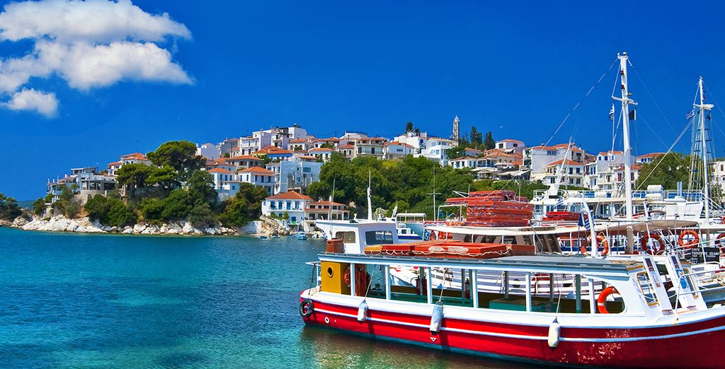 Nestled in the quiet island of Skopelos