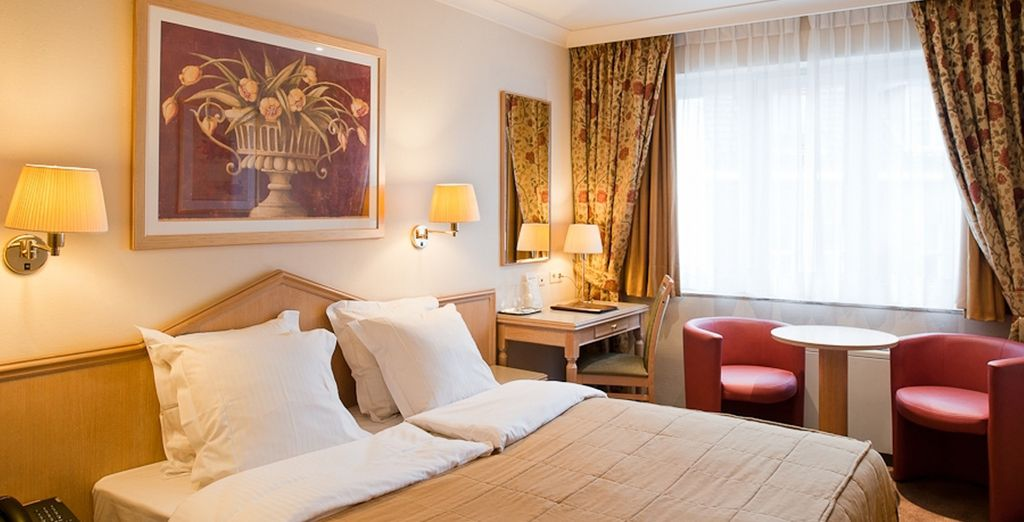 And be treated to a plush Executive Room