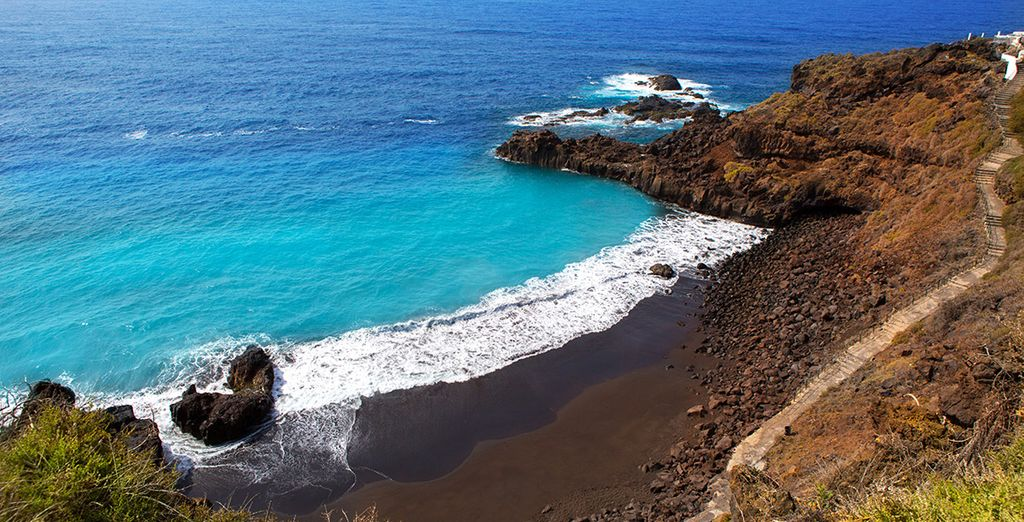 Admire the dramatic coastline of La Palma