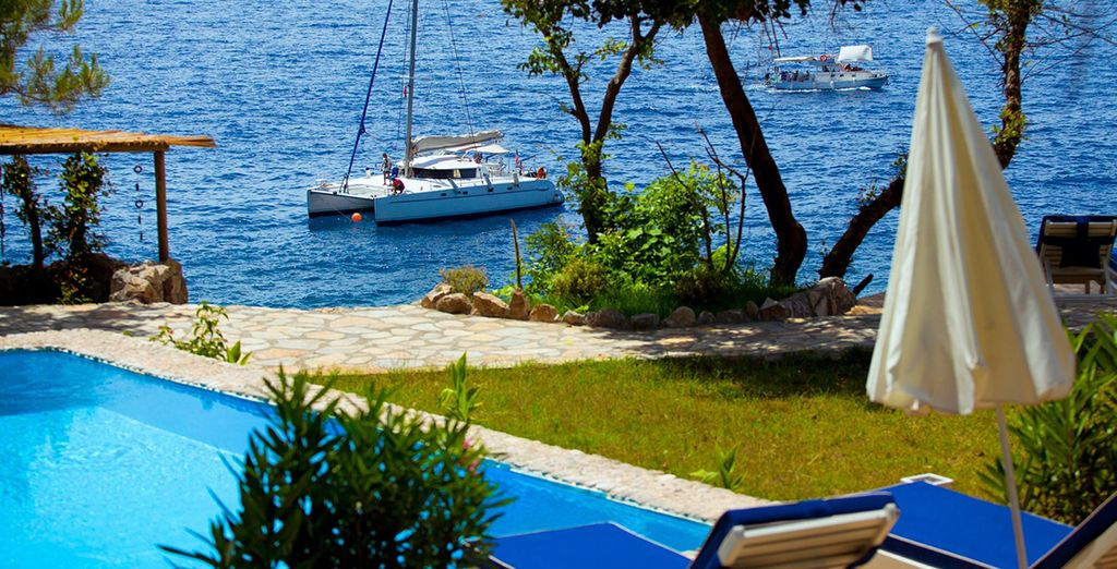Relax in the sunshine and tranquil surroundings
