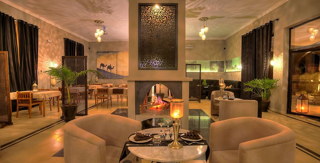 Enjoy fine Moroccan delights in the restaurant