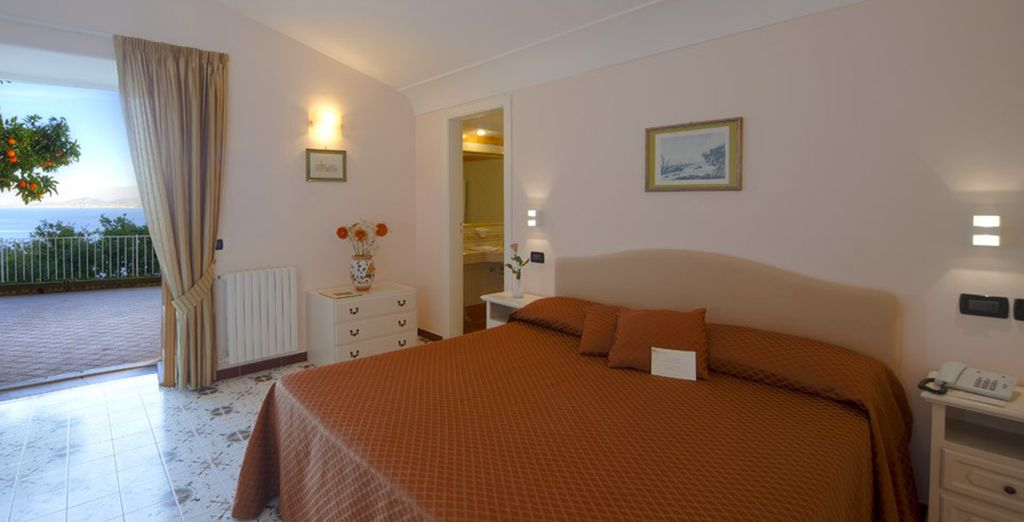 Our members will enjoy a sea view room