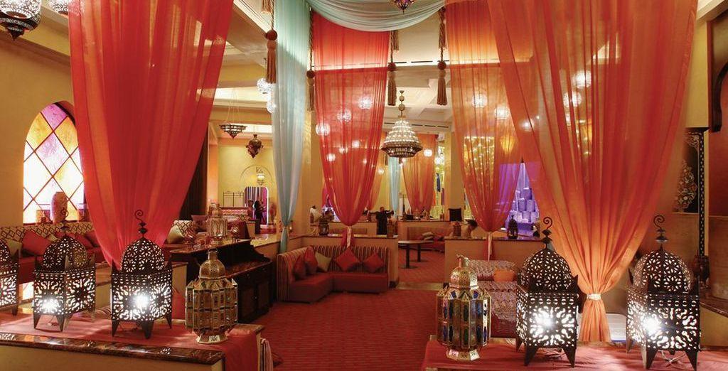 Admire the traditional Moroccan decor