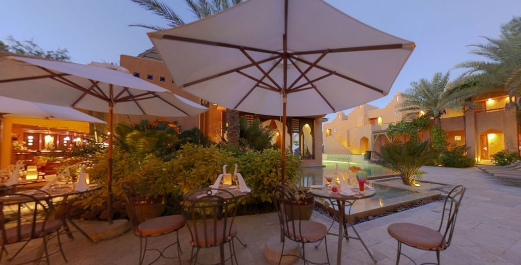 End the day with a romantic dinner under the stars