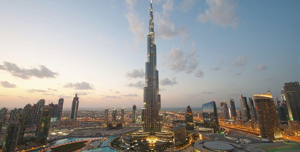 To the record breaking Burj Khalifa