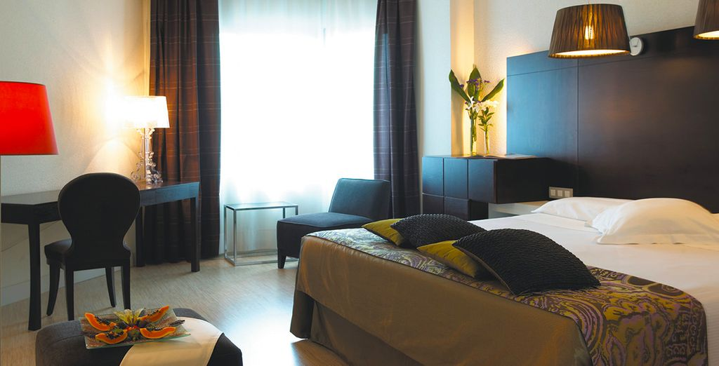 Where you will be staying in a sleek and modern Junior Suite