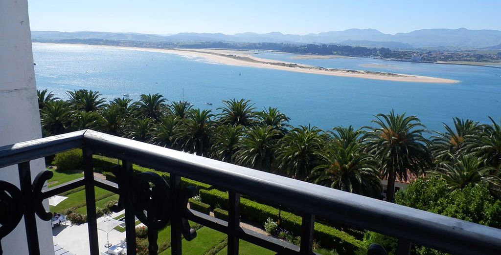 And  beautiful views over Santander Bay