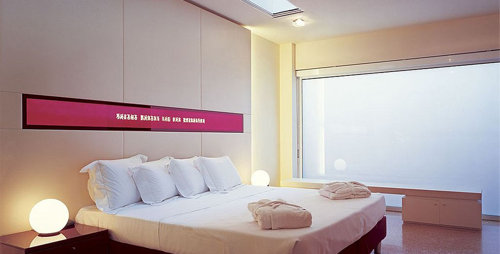 Where you will stay in a chic and minimalist Superior Room