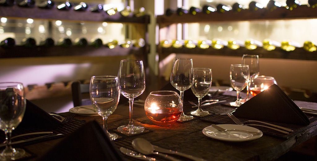 Or head to the wine cellar for a more intimate atmosphere