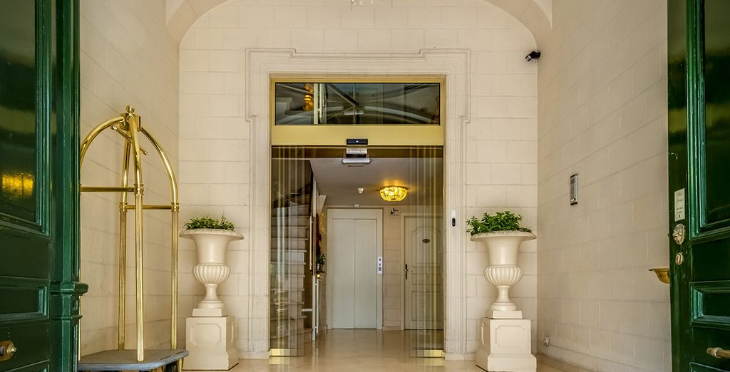 Enter this elegant hotel...
