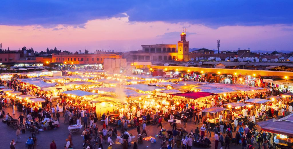 All of this, and the legendary Jemaa el Fna square just 10 min away