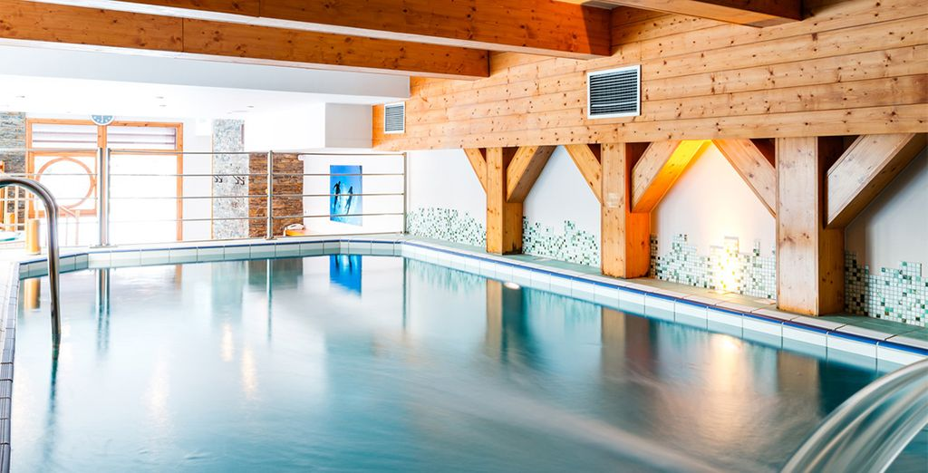 Such as the lovely spa and saunas