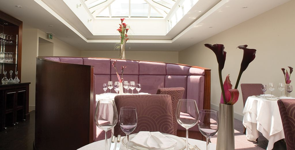 Dine in the hotel's celebrated AA rosette restaurant