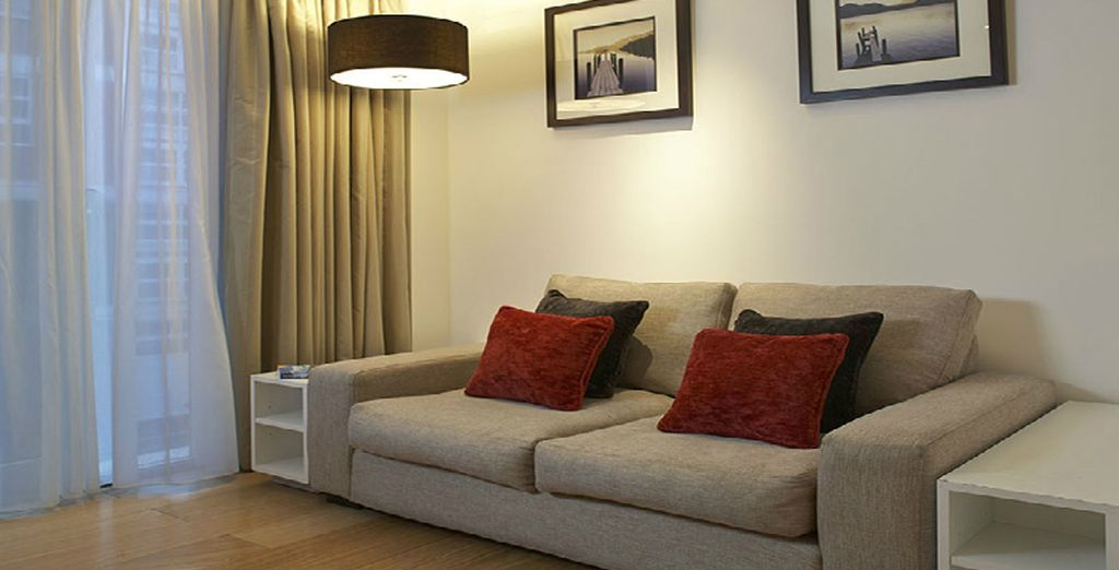 Complete with homely living areas