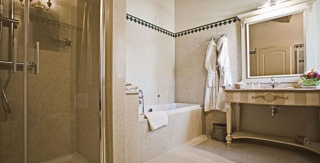 As well as a superb ensuite bathroom to help you freshen up