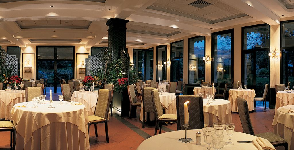 Sample the Italian cuisine in elegant surroundings