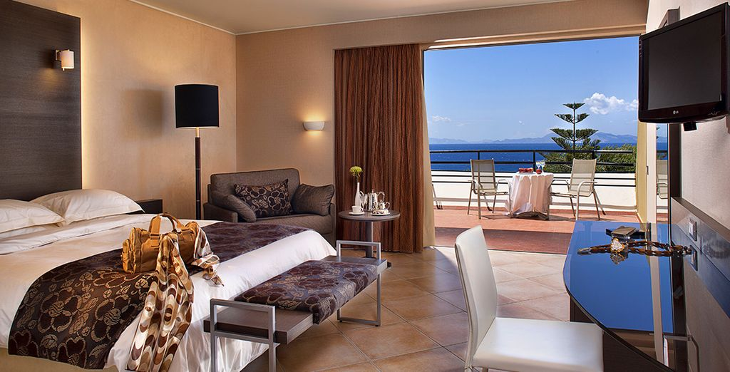 Where you will stay in a Sea View Room