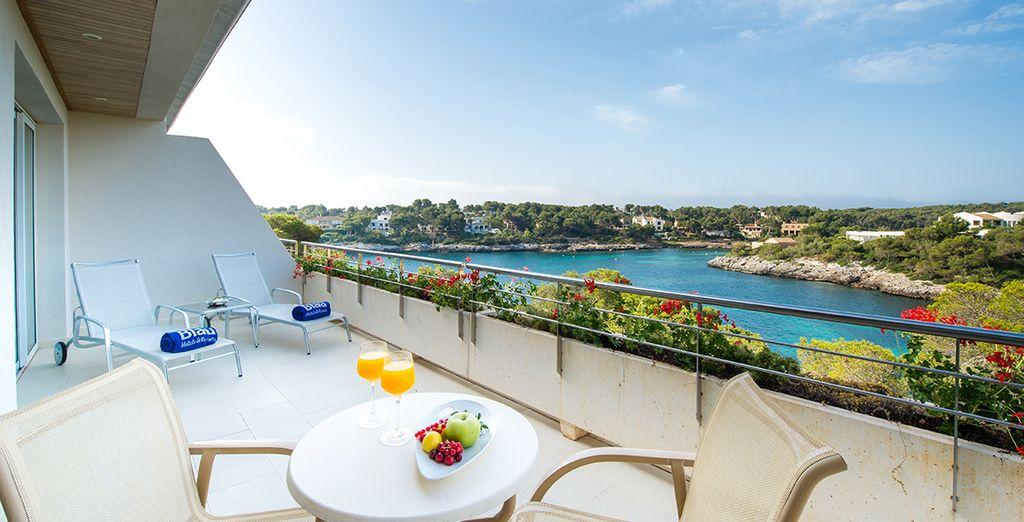 Relax on your sunny terrace at Blau Porto Petro Resort - PURAVIDA Blau Porto Petro Beach Resort & Spa 5* Palma de Mallorca