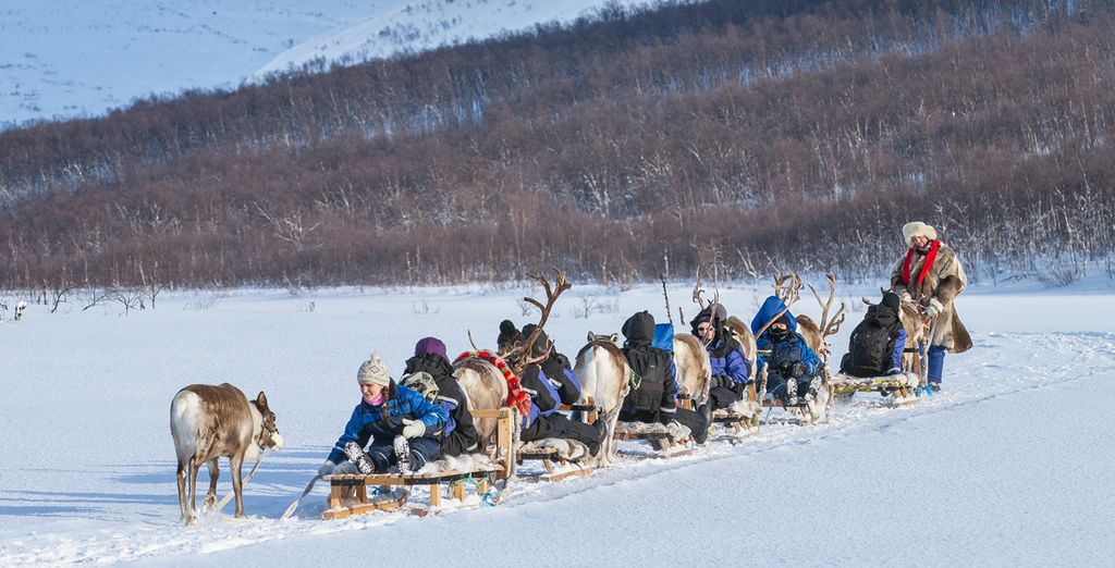 Choose to add a range of extra experiences, including reindeer sledding