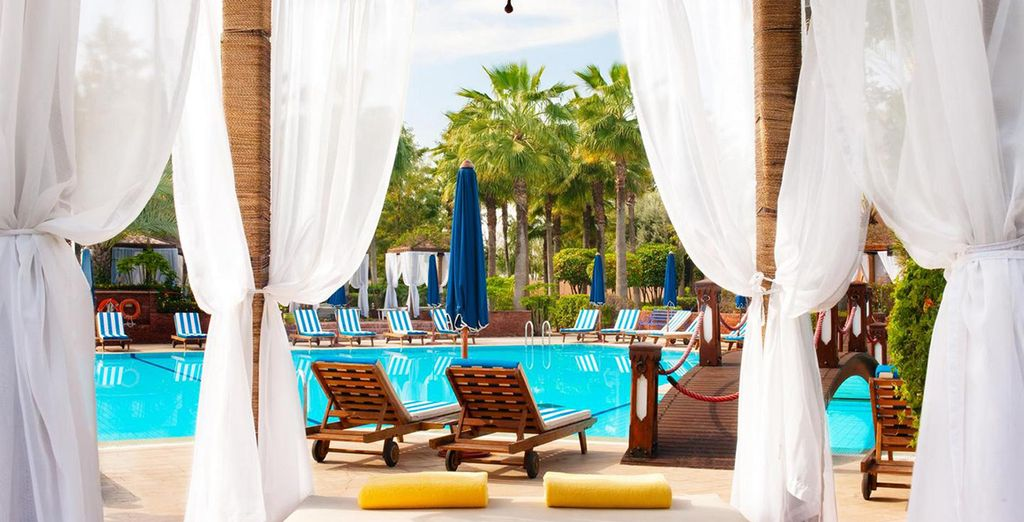 Or relax by the pool after exploring the souks