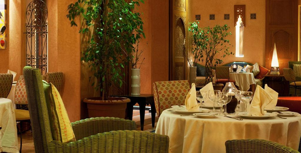 Enjoy mouth-watering food in the restaurant