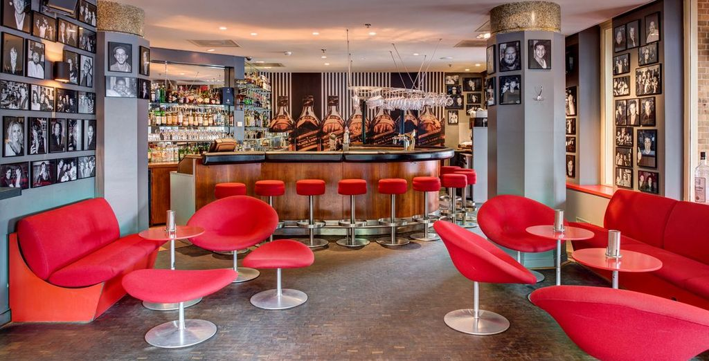 The art deco hotel bar will be waiting for you on your return...