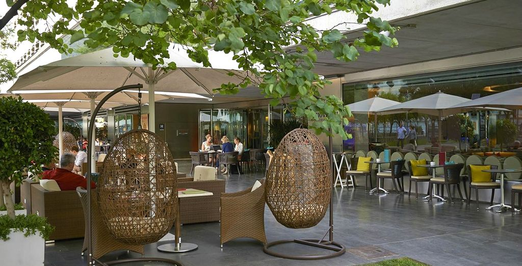 Take in the summer sun on the terrace