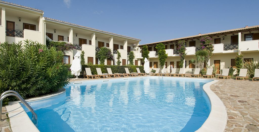 Dip into the hotel pool to cool off